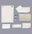 message notes and paper pins vector image
