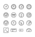 Meter manometers speed clock measure line vector image