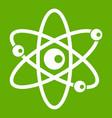 molecules of atom icon green vector image vector image
