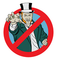 no trolling sign vector image