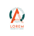 oa modern logo design with orange and green color vector image vector image