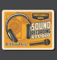 professional music dj sound recording studio vector image vector image