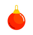 red plain christmas ball vector image vector image