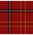 Red Tartan Seamless Pattern FINAL vector image