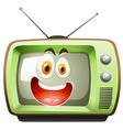 Retro television with face vector image vector image