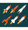 Rocket icons Start Up and Launch Symbol for New vector image vector image