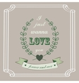 Romantic card in vintage style vector image vector image