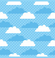 seamless pattern clouds rain and sky vector image