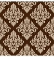 Seamless pattern in almond and cinnamon colors vector image
