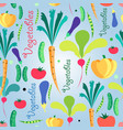 seamless pattern vegetables vector image vector image