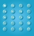 set mobile bright blue elements for ui game vector image vector image