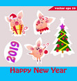 set of christmas pigs vector image
