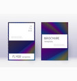 stylish cover design template set rainbow abstrac vector image