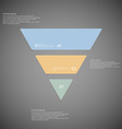 triangle infographic template consists three vector image vector image