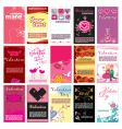 valentins day cards templates vector image