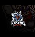 viking skull mascot sport logo design vector image vector image