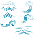 Water Wave Set vector image vector image