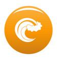 wave storm icon orange vector image vector image