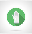 white glove flat round icon vector image