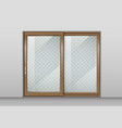 wooden sliding door vector image vector image