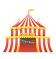 circus tent fun park in white background vector image