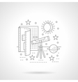 Astronomy lessons detail line icon vector image