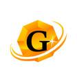 diamond swoosh initial g vector image