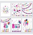 Happy birthday Let s birtday party vector image