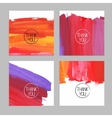 Set of abstract hand drawn acrylic backgrounds vector image