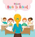 Teacher Teaching Students In Classroom vector image