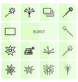 14 burst icons vector image vector image