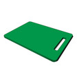 3d image - green plastic kitchen breadboard hole vector image