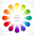 Abstract color wheel vector image vector image