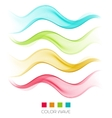 Abstract colorful wave design element vector image