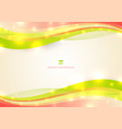 abstract colorful wave line with light glow on vector image