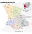 administrative map dusseldorf region vector image vector image