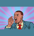 african businessman shouts calling vector image