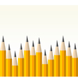 Back to school yellow pencil pattern vector image vector image