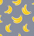 Banana pattern Seamless texture with ripe bananas vector image vector image