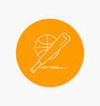 baseball basket ball game fun white line icon in vector image vector image