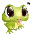 beautiful frog with big eyes vector image vector image