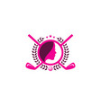 beauty golf logo icon design vector image