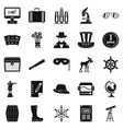 binoculars icons set simple style vector image vector image