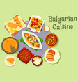 bulgarian cuisine dinner icon for food design vector image vector image