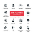 car features - line design silhouette icons set vector image vector image