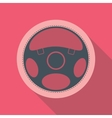 Car Steering Wheel Icon Flat Symbol vector image vector image