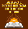 Christian motivational quote Assurance is the vector image