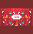circus carnival show with trained animals website vector image