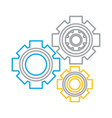 cogwheel icon image vector image