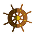 colorful silhouette of boat helm with half shadow vector image vector image